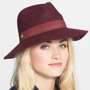 Vince Camuto Maroon Wool studded Hat